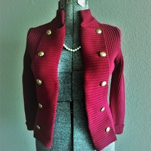 Chaps Red Cardigan New Size; S